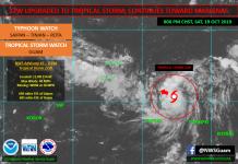 Tropical Storm Bualoi Intensifying